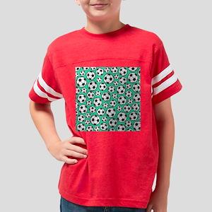 Aqua Turquoise Soccer Ball Pa Youth Football Shirt