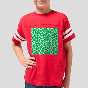 Neon Green and White Giraffe  Youth Football Shirt