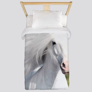 White Stallion Twin Duvet