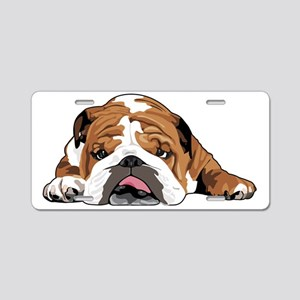 Teddy the English Bulldog Aluminum License Plate
