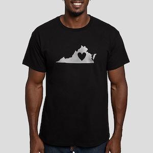Heart Virginia Men's Fitted T-Shirt (dark)