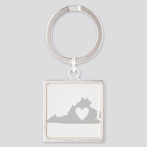 Heart Virginia Square Keychain