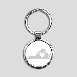 Heart Virginia Round Keychain
