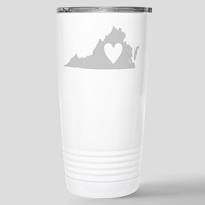 Heart Virginia Stainless Steel Travel Mug