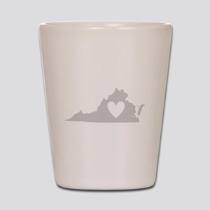 Heart Virginia Shot Glass