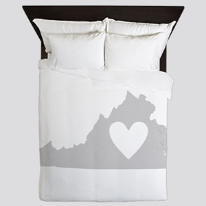 Heart Virginia Queen Duvet