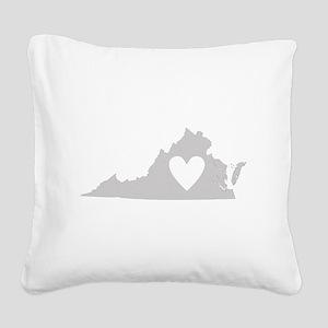 Heart Virginia Square Canvas Pillow