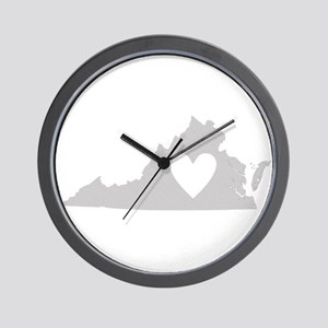 Heart Virginia Wall Clock