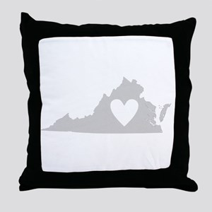Heart Virginia Throw Pillow