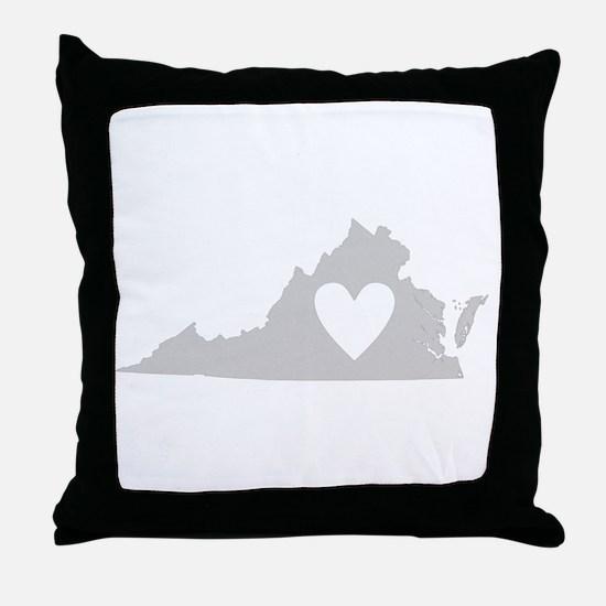 Heart Virginia Throw Pillow