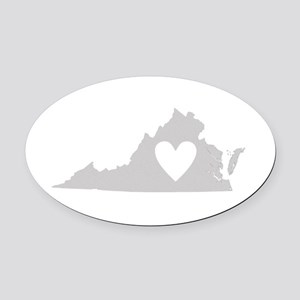 Heart Virginia Oval Car Magnet