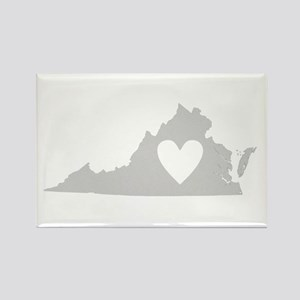 Heart Virginia Rectangle Magnet