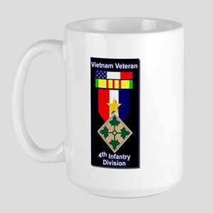 4th Infantry Division Veteran Large Mug