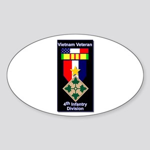 4th Infantry Division Veteran Oval Sticker