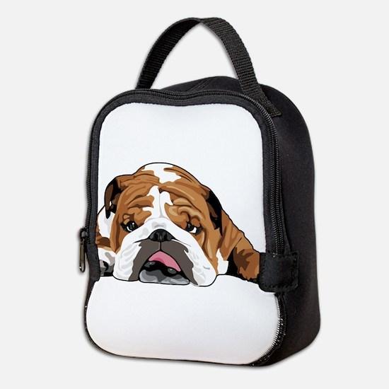 Teddy the English Bulldog Neoprene Lunch Bag