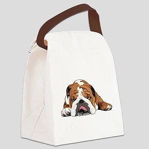 Teddy the English Bulldog Canvas Lunch Bag