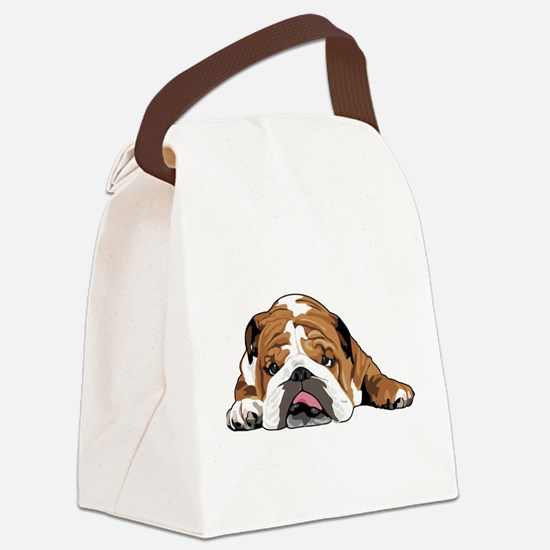 Teddy the English Bulldog Canvas Lunch Bag