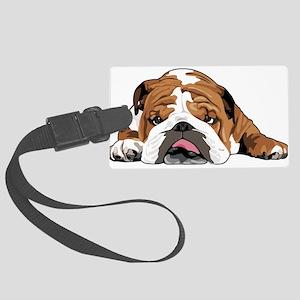 Teddy the English Bulldog Luggage Tag