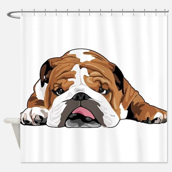 Teddy the English Bulldog Shower Curtain