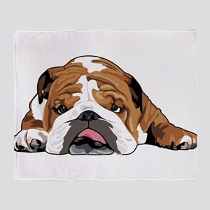 Teddy the English Bulldog Throw Blanket