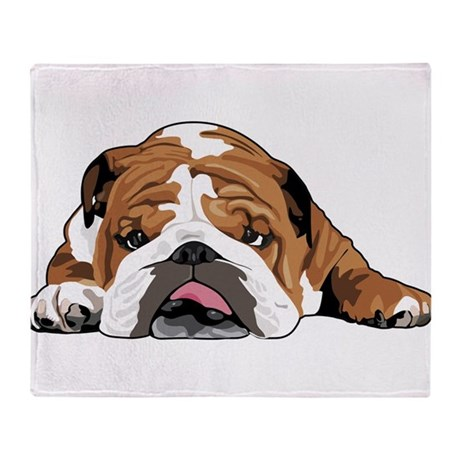 Teddy the English Bulldog Throw Blanket