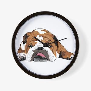 Teddy the English Bulldog Wall Clock