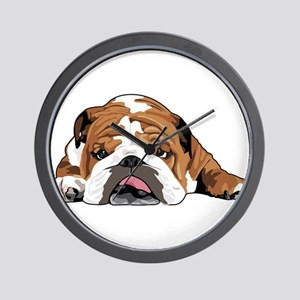 Teddy the English Bulldog Wall Clock