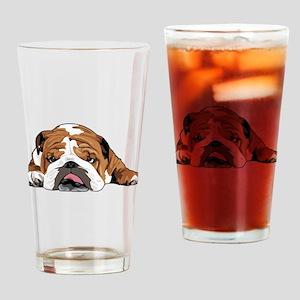 Teddy the English Bulldog Drinking Glass