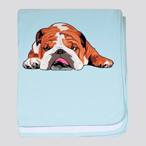 Teddy the English Bulldog baby blanket