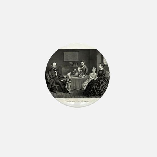 Grant at home - 1869 Mini Button