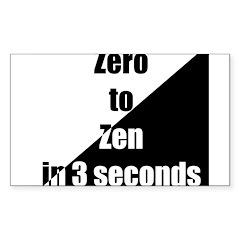 Zero to Zen Rectangle Decal