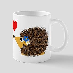 Cuddley Hedgehog Couple with Heart Mug