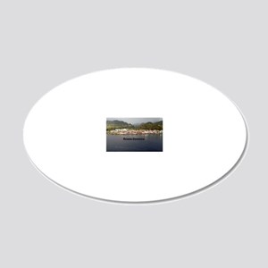 Roseau Dominica 20x12 Oval Wall Decal