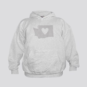 Heart Washington Kids Hoodie