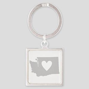 Heart Washington Square Keychain