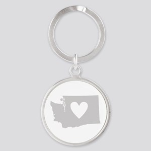 Heart Washington Round Keychain
