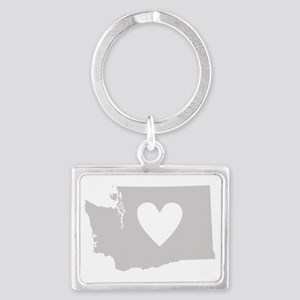 Heart Washington Landscape Keychain