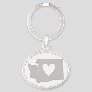 Heart Washington Oval Keychain