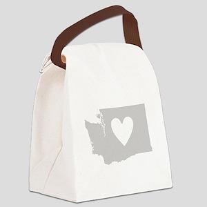 Heart Washington Canvas Lunch Bag