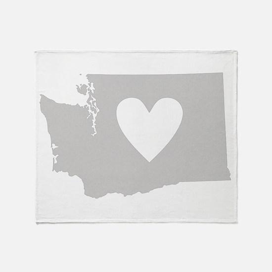 Heart Washington Throw Blanket