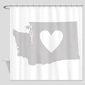 Heart Washington Shower Curtain
