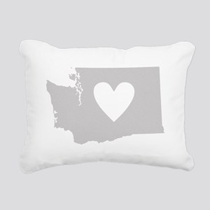 Heart Washington Rectangular Canvas Pillow