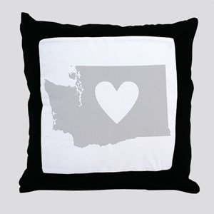 Heart Washington Throw Pillow