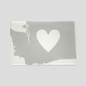 Heart Washington Rectangle Magnet