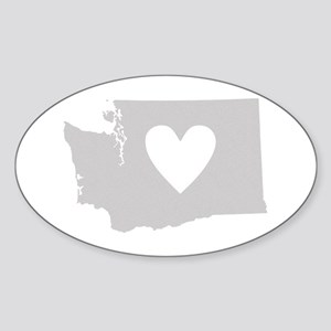 Heart Washington Sticker (Oval)