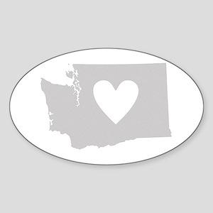 Heart Washington Sticker (Oval)