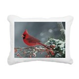 Cardinal bird Rectangle Canvas Pillows