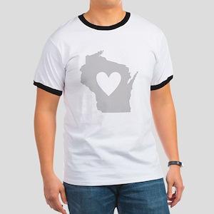 Heart Wisconsin Ringer T