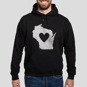 Heart Wisconsin Hoodie (dark)