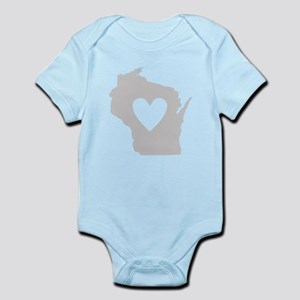 Heart Wisconsin Infant Bodysuit
